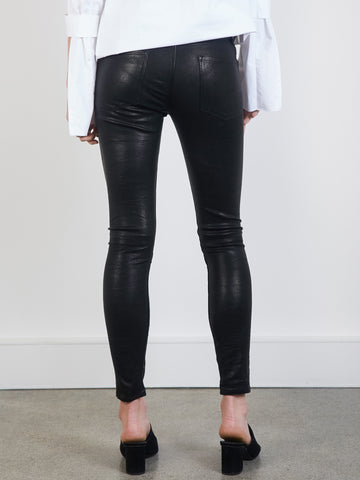 Frame Denim | Le Skinny Leather Pant in Washed Black | The UNDONE by ...