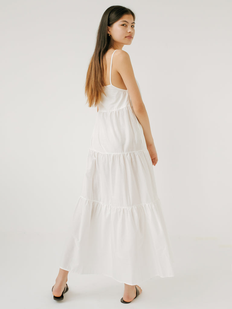 5288e78acab1 Matteau | Tiered Sundress in White | The UNDONE by Matteau