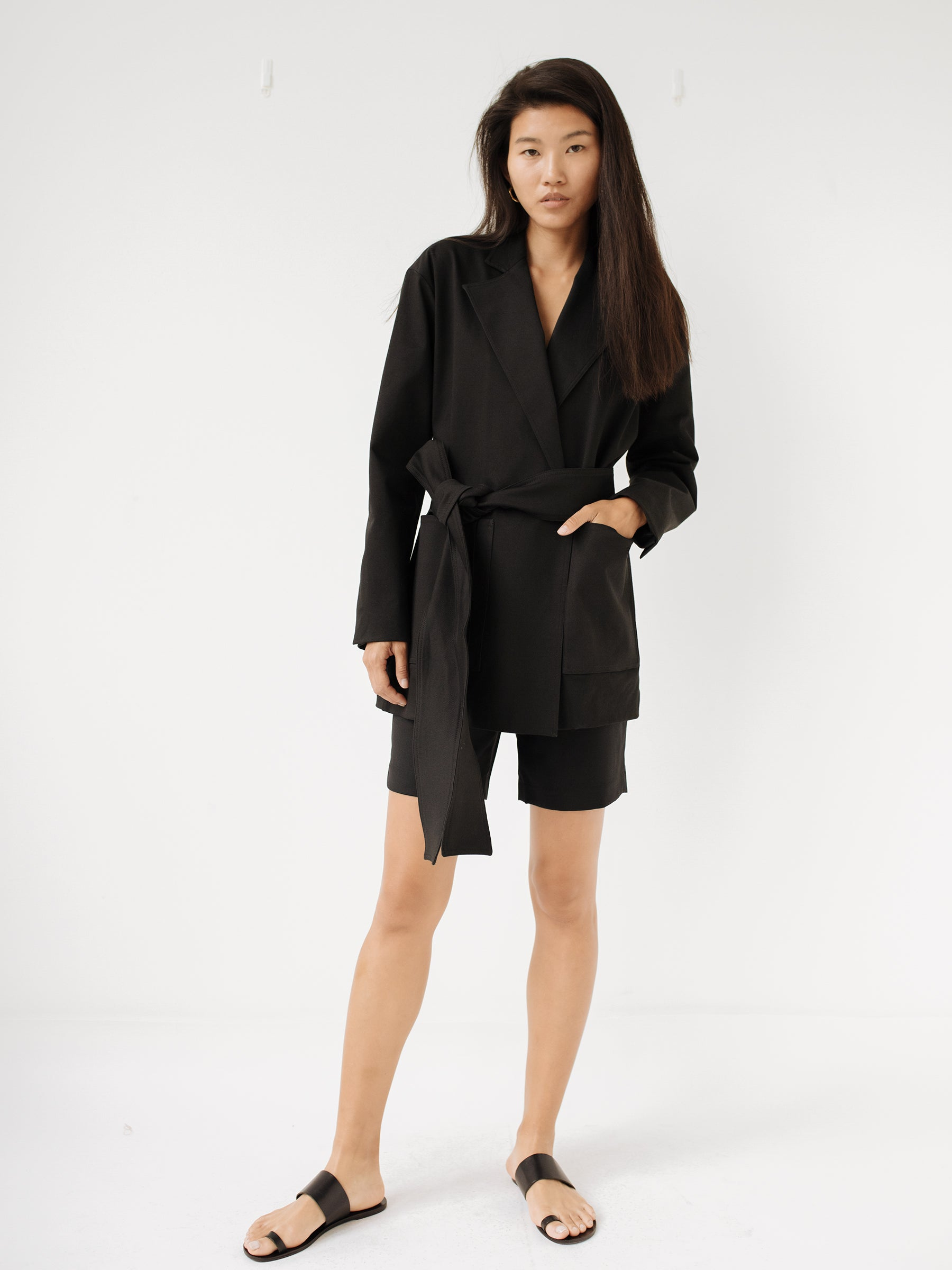 e9f9461a3dc Michael Lo Sordo | Deconstructed Wrap Jacket in Black | The UNDONE. Next
