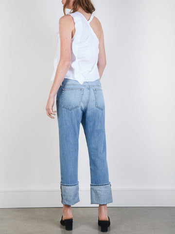 Frame Denim | Le Oversized Cuff Jean in White Sands | The UNDONE by ...