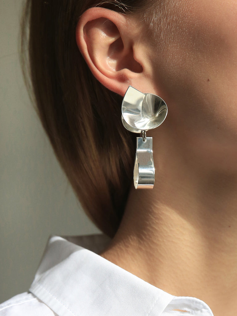 Sara Robertsson coil and drop earring n39pWdf3ih