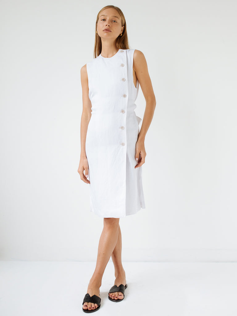 d66815e1fe3 Sir The Label | Dalila Button Down Midi Dress in White | The UNDONE ...