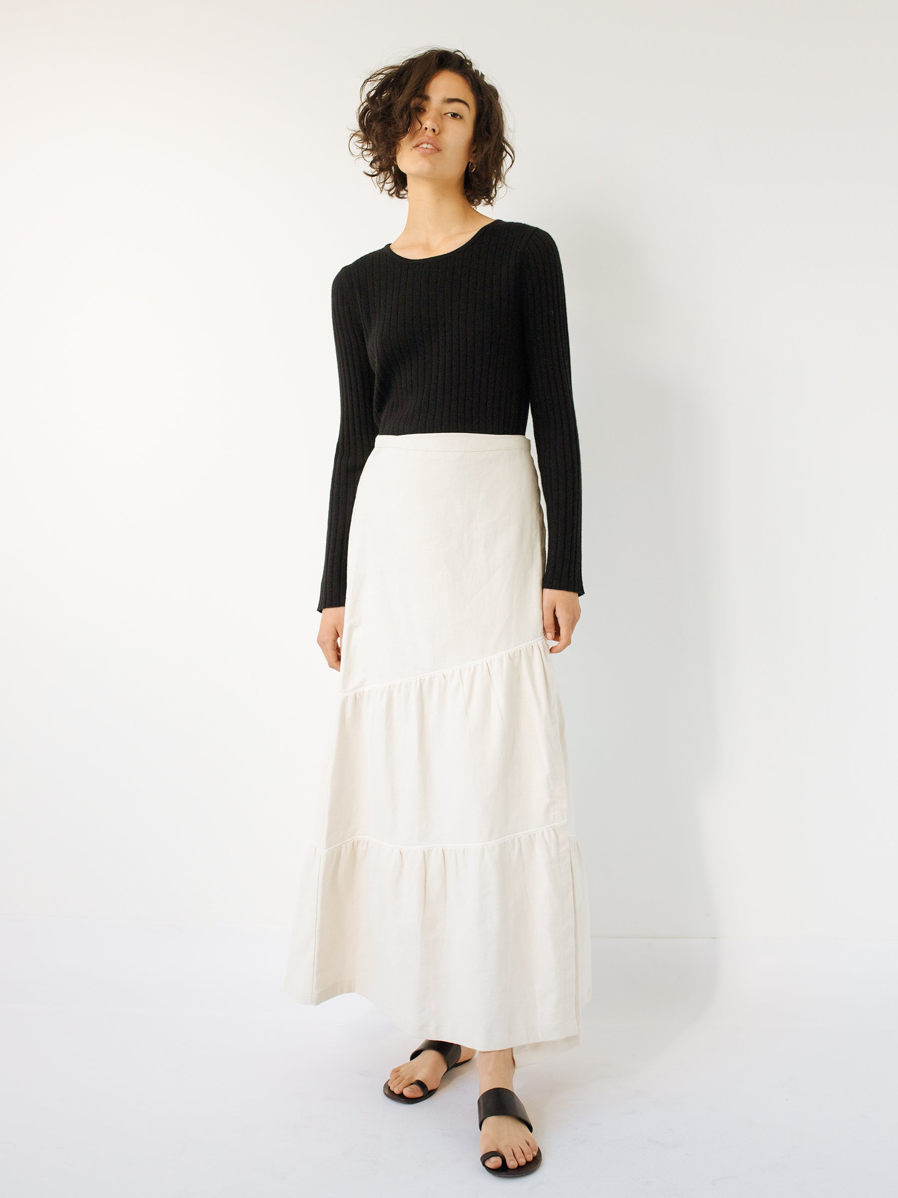 214a99fed Previous. SIR The Label | Sage Midi Skirt in Natural | The UNDONE