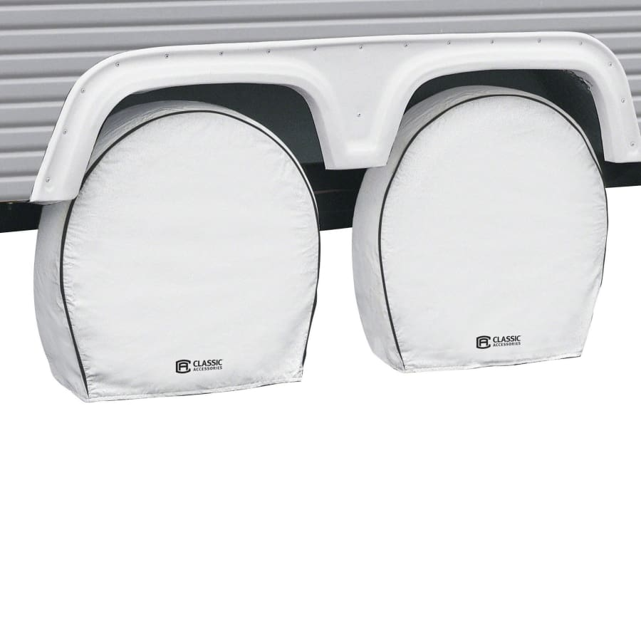 Deluxe RV Wheel Covers by Classic Accessories (2-Pack) - Model 19 - 22 Wheel Diameter 6.75 Tire Width - Deluxe Wheel Cover
