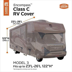 Encompass Class C Cover Motorhome Covers by Classic Accessories - 23- 26L 122 Max H - Class C