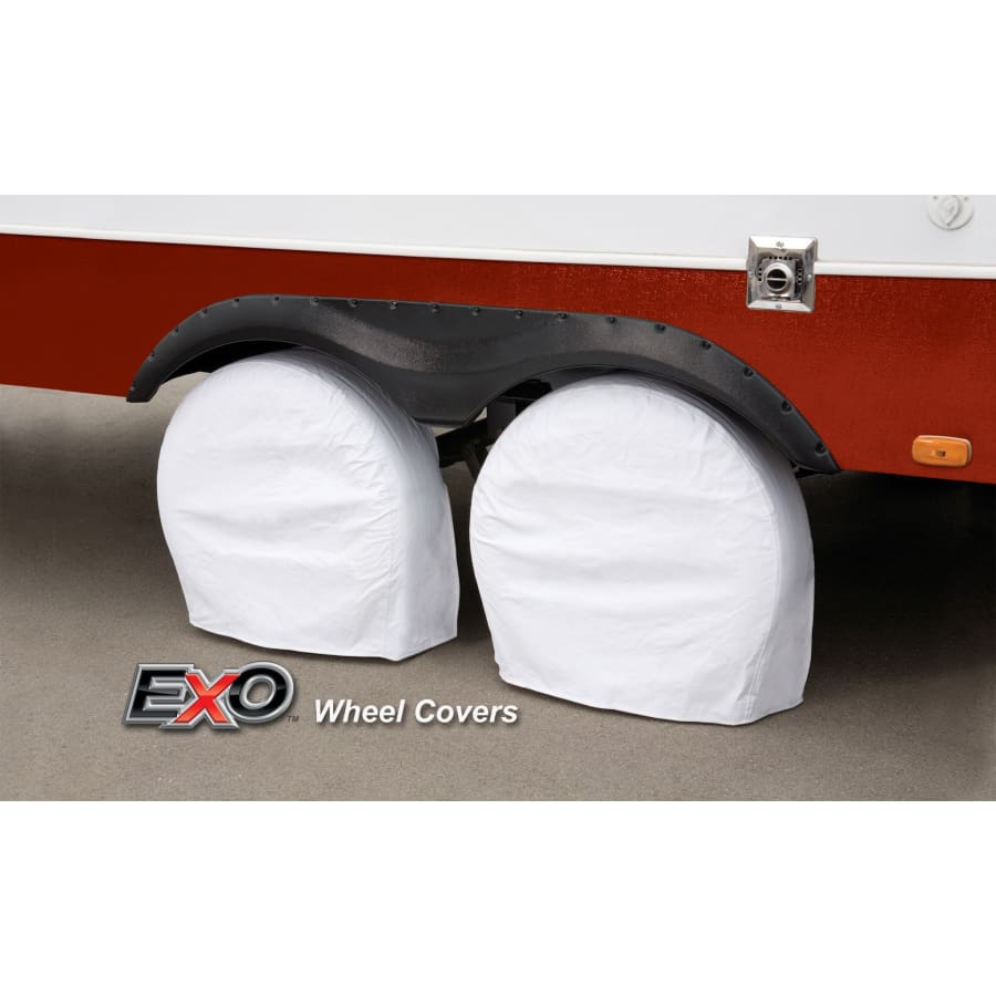 Expedition EXO RV Camper Trailer Wheel / Tire Covers - 19-22 EXWC1922 - Dual Wheel Cover
