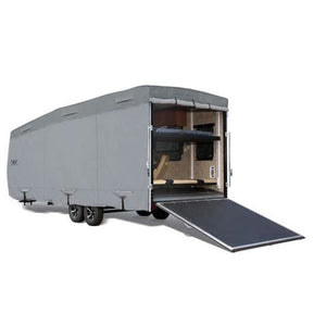 Expedition S2 Travel Trailer Toy Hauler Cover RV Covers by Eevelle - 21-22 270L x 106W x 120H / Gray - Toy Hauler