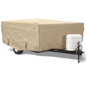 Goldline Pop Up Camper Cover RV Covers by Eevelle - 8-10 / Tan - Pop Up Trailer