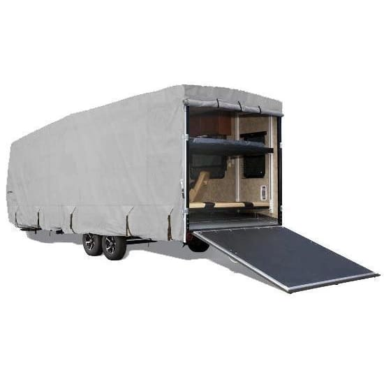 Goldline Travel Trailer Toy Hauler RV Cover by Eevelle - 10-12 / Gray - Toy Hauler