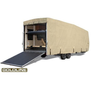 Goldline Travel Trailer Toy Hauler RV Cover by Eevelle - 10-12 / Tan - Toy Hauler