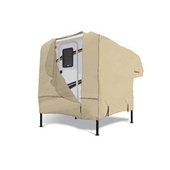Goldline Truck Camper Cover by Eevelle - 8-10 / Tan - Truck Camper Cover
