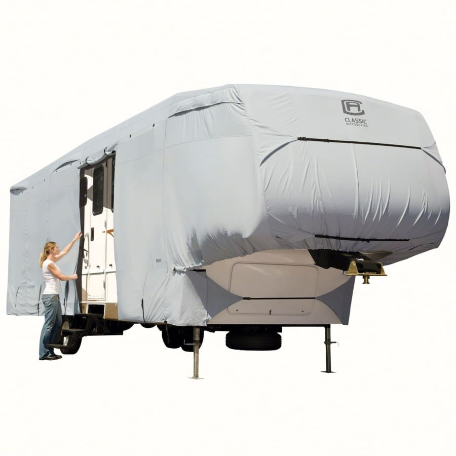 PermaPRO 5th Wheel Cover / 5th Wheel Toy Hauler Cover by Classic Accessories - Model 1 2023L 122 Max H - 5th Wheel