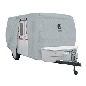 PermaPRO Molded Fiberglass Travel Trailer Cover by Classic Accessories - Travel Trailer