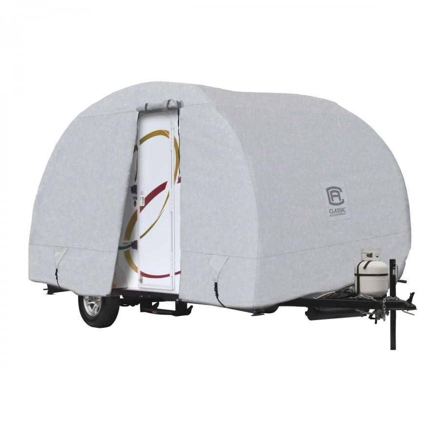 PermaPRO R-Pod Travel Trailer Cover by Classic Accessories - MODEL 3 - FITS: up to 17 7 L Trailer Body Only (without hitch) Total Trailer