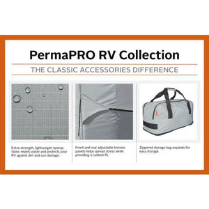 PermaPRO Teardrop Camper Cover / Clamshell Travel Trailer Cover RV Covers by Classic Accessories - Travel Trailer