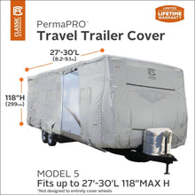 PermaPRO Travel Trailer RV Cover / Travel Trailer Toy Hauler RV Cover by Classic Accessories - Travel Trailer & Toy Hauler