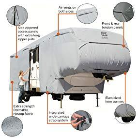 PermaPRO 5th Wheel Cover / 5th Wheel Toy Hauler Cover by Classic Accessories