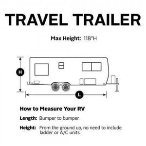 PolyPRO 3 Travel Trailer / Toy Hauler RV Cover by Classic Accessories - Travel Trailer