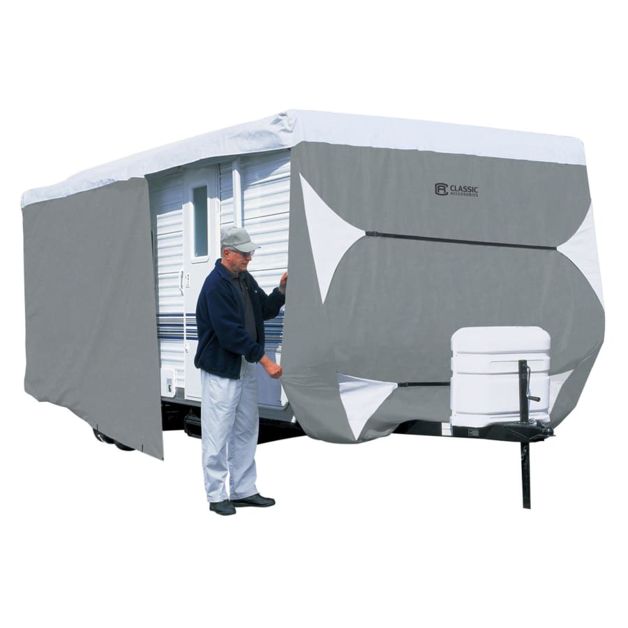PolyPRO 3 Travel Trailer / Toy Hauler RV Cover by Classic Accessories - MODEL 1 - 18-20L 118MAX H - Travel Trailer