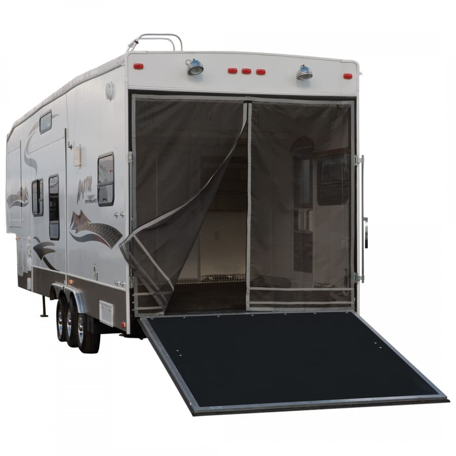 RV Toy Hauler Screen by Classic Accessories - REAR OPENING UP TO 90.5H COMPATIBLE WITH FIBERGLASS OR ALUMINUM FRAMES - Toy Hauler Screen