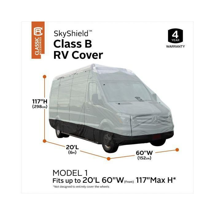 SkyShield Class B RV Cover by Classic Accessories - (Model 1) Up to 20L 117 max H - Class B