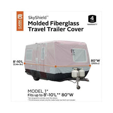 SkyShield Molded Fiberglass Travel Trailer Cover by Classic Accessories - (Model 1) 8 L 10 L 80 W - Travel Trailer