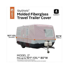 SkyShield Molded Fiberglass Travel Trailer Cover by Classic Accessories - (Model 2) 101 L 13 L 80 W - Travel Trailer