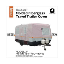 SkyShield Molded Fiberglass Travel Trailer Cover by Classic Accessories - (Model 3) 131 L 16 L 80 W - Travel Trailer
