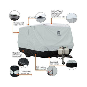 SkyShield Molded Fiberglass Travel Trailer Cover by Classic Accessories - Travel Trailer