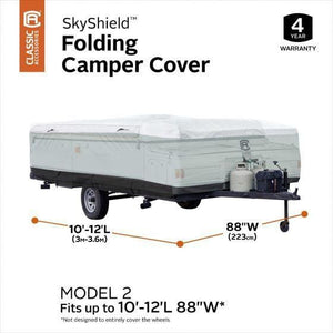 Skyshield Pop Up Camper Cover by Classic Accessories - (Model 2) 10-12L 88 W - Pop Up Trailer