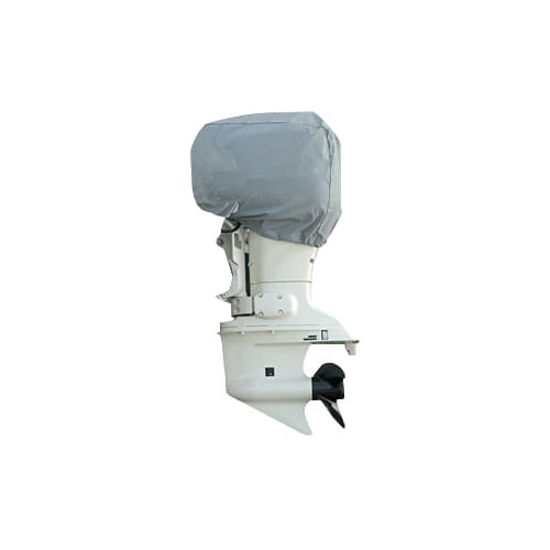 Universal Outboard Boat Motor Cover / UV and Mildew Resistant / 100% Marine-Grade Polyester - Boat Accessories