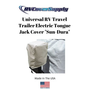 Universal RV Travel Trailer Camper Electric Tongue Jack Cover Sun-DURA - Tan by RV Cover Supply - Electric Tongue Jack Cover