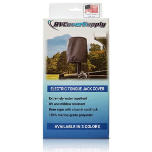 Universal RV Travel Trailer Electric Tongue Jack Cover Sun-DURA by RV Cover Supply - Electric Tongue Jack Cover