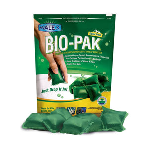 Walex Bio-Pak Fresh Scent RV Waste Water Holding Tank Deodorizer Treatment - Single Pack of 10 Pouches - Drop Ins