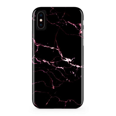 Black and Pink Thunder Marble Phone Case  - CASES A LA MODE