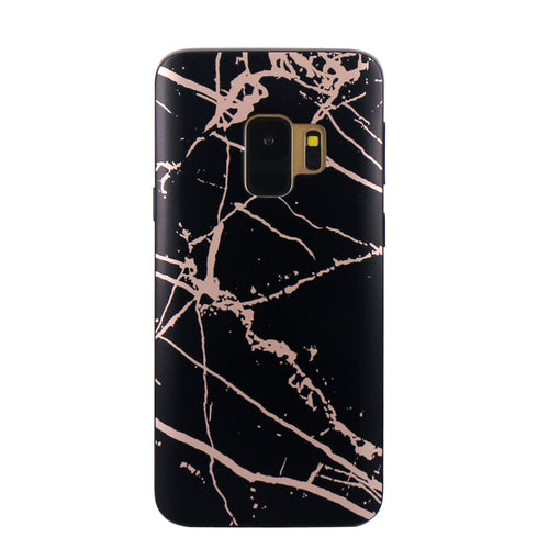 Black and Rose Chrome Marble Samsung Case  - CASES A LA MODE