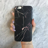 Black and Rose Marble Case  - CASES A LA MODE