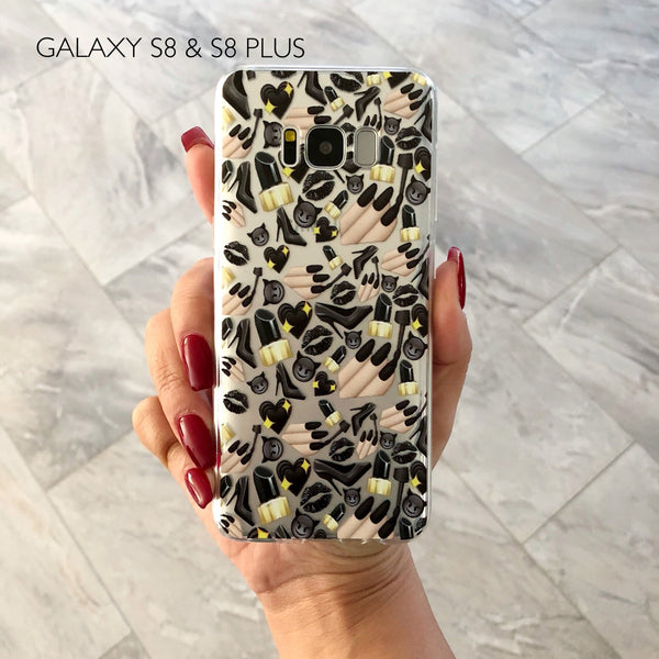 Black Glam Phone Case GALAXY S8 - CASES A LA MODE