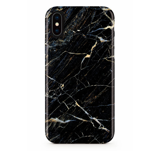 Black Storm Marble iPhone Case IPHONE X - CASES A LA MODE