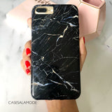 Black Storm Marble iPhone Case  - CASES A LA MODE
