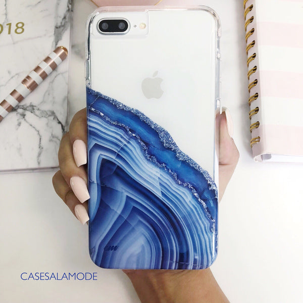 Blue Agate iPhone Case  - CASES A LA MODE