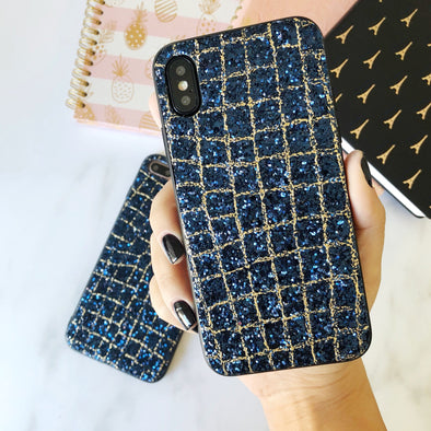 Blue and Gold Sequence iPhone Case  - CASES A LA MODE