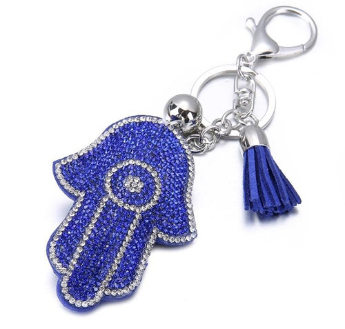 Blue Hamsa Keychain  - CASES A LA MODE