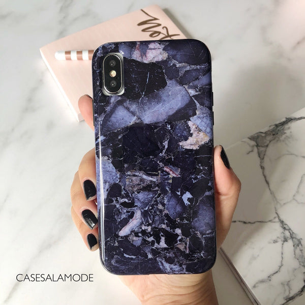 Blue Shattered Marble iPhone Case  - CASES A LA MODE