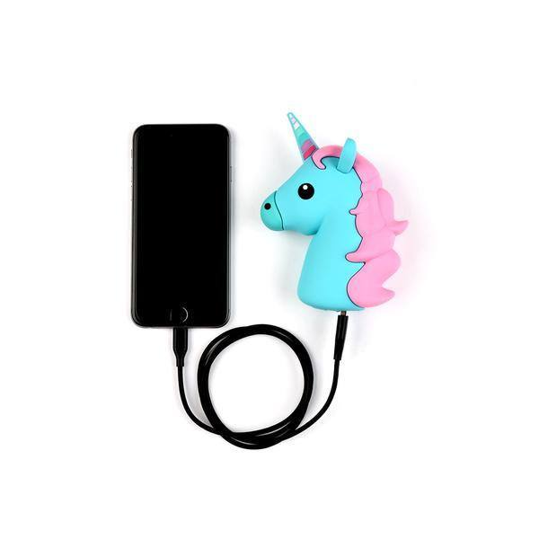 Blue Unicorn Emoji Portable Charger  - CASES A LA MODE