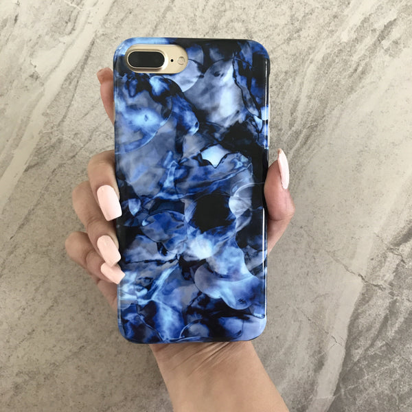 los angeles 759b5 6cbaf Blue Waters Marble iPhone Case