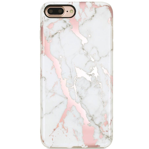 Classic Rose Gold Marble iPhone Case  - CASES A LA MODE