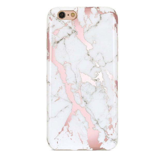 Classic Rose Gold Marble Iphone Case
