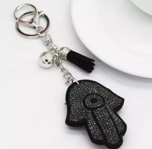 Dark Gray Hamsa Keychain  - CASES A LA MODE