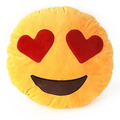 Emoji Pillow Heart Eyes Face  - CASES A LA MODE